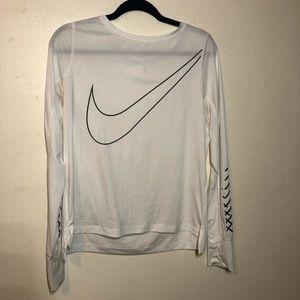Nike running long sleeve dri-fit tee - size M